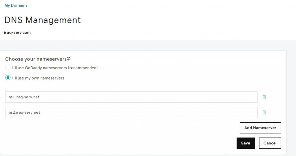 change DNS on Godaddy-5
